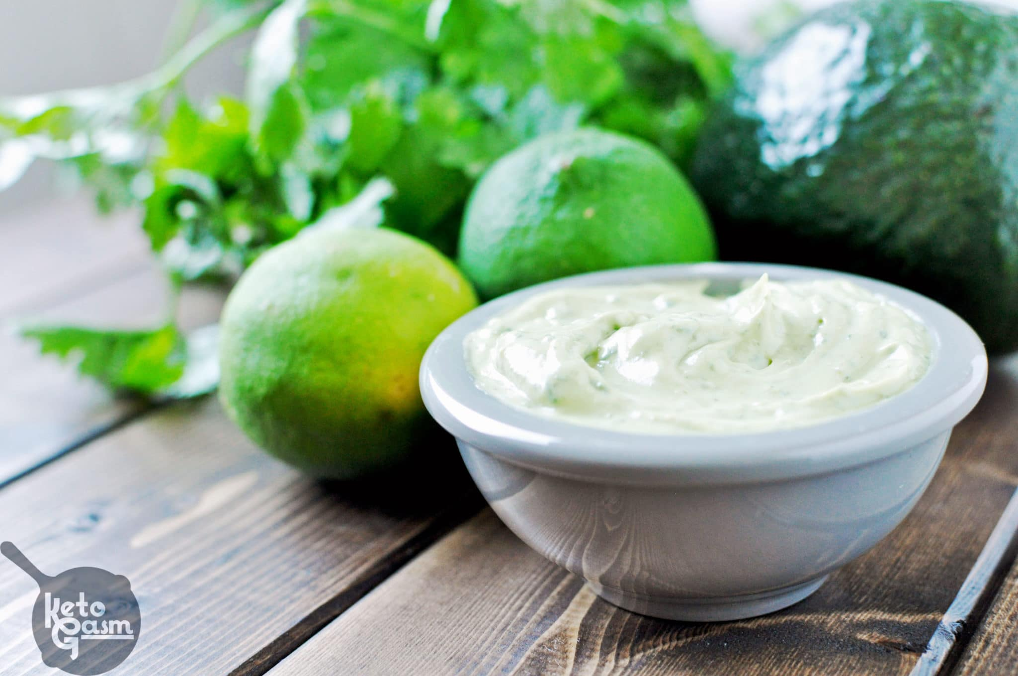 Avocado Cilantro Lime Mayonnaise [Recipe] - KETOGASM