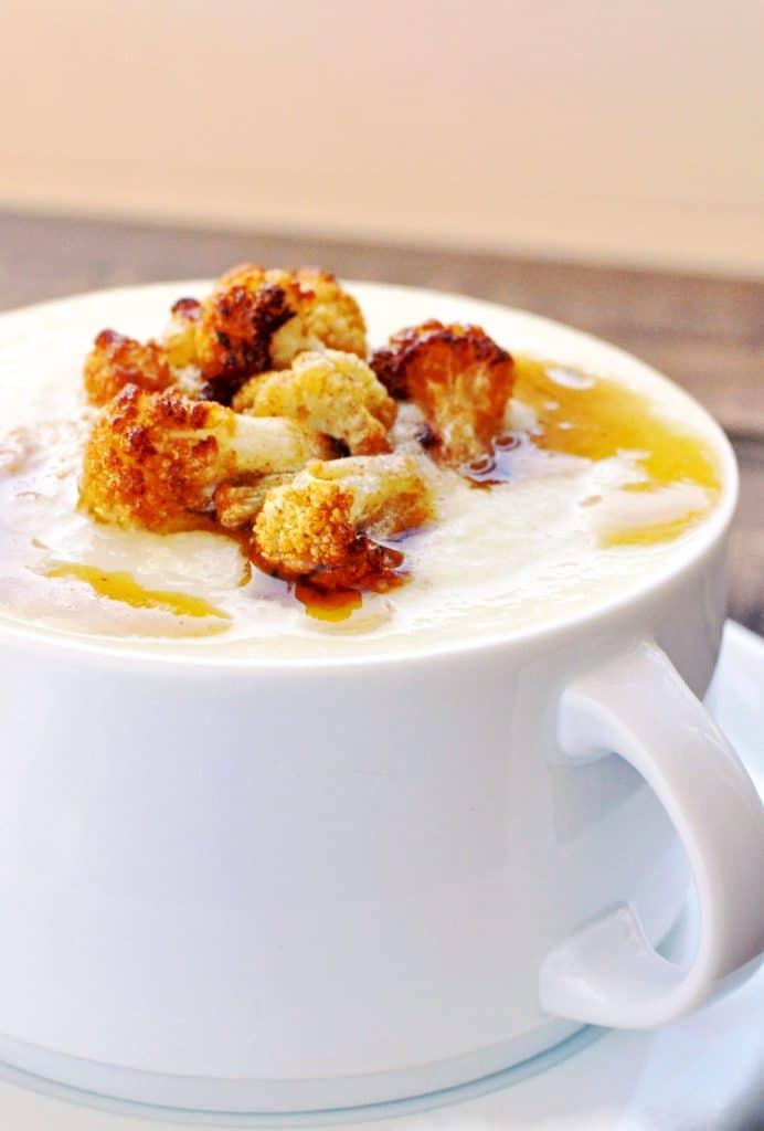 cauliflower parmesan soup #keto #lowcarb #atkins #vegetarian #ketogenic