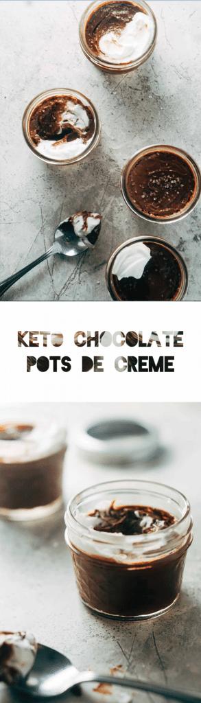 Keto Chocolate Pots de Créme