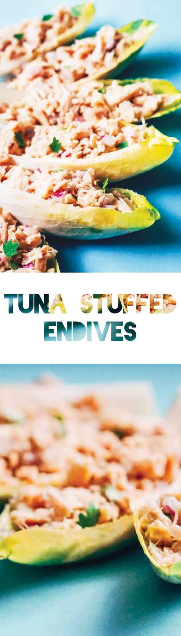 Keto Tuna Stuffed Endives with Avocado Oil Vinaigrette Recipe