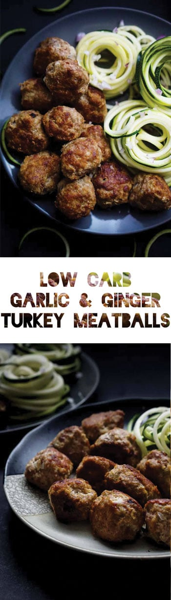 Keto Meatball Recipe | Low Carb Garlic & Ginger Turkey Meatballs