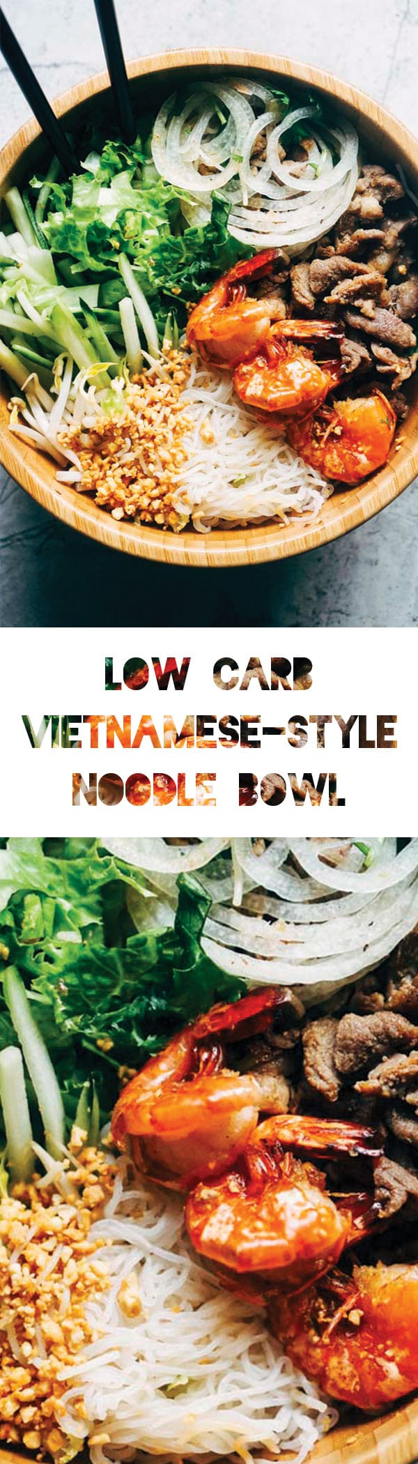 Vietnamese Salad with Shirataki Noodles | Low Carb & Keto Vietnamese-Style Food