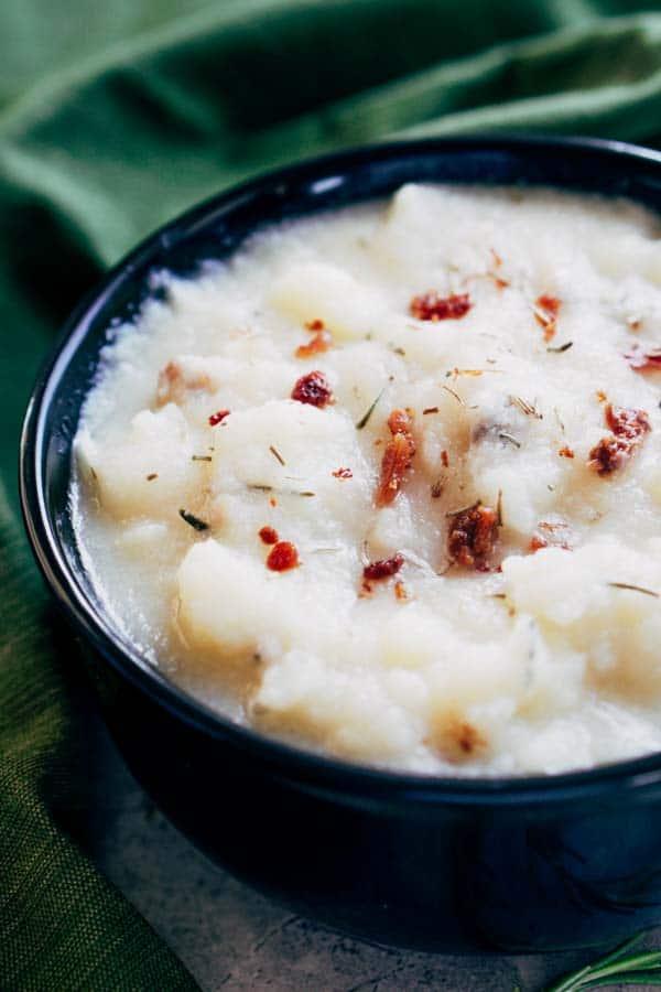 Cauliflower Clam Chowder - Keto, Low Carb, Atkins, Paleo, Whole 30