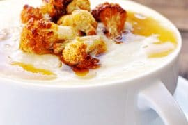 Cream Parmesan Cauliflower Soup | KETOGASM RECIPE #keto #lowcarb #paleo #whole30 #cauliflower #brownedbutter #soup #recipes #vegetarian keto recipes