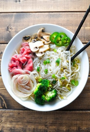Low Carb Pho - Vietnamese Noodle Soup [Recipe] | KETOGASM.com #keto #ketogenic #lowcarb #lchf #atkins #pressurecooker #recipes #pho #noodlesoup #soup #vietnamese keto recipes