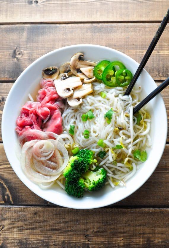 Low Carb Pho - Vietnamese Noodle Soup [Recipe] | KETOGASM.com #keto #ketogenic #lowcarb #lchf #atkins #pressurecooker #recipes #pho #noodlesoup #soup #vietnamese keto recipes