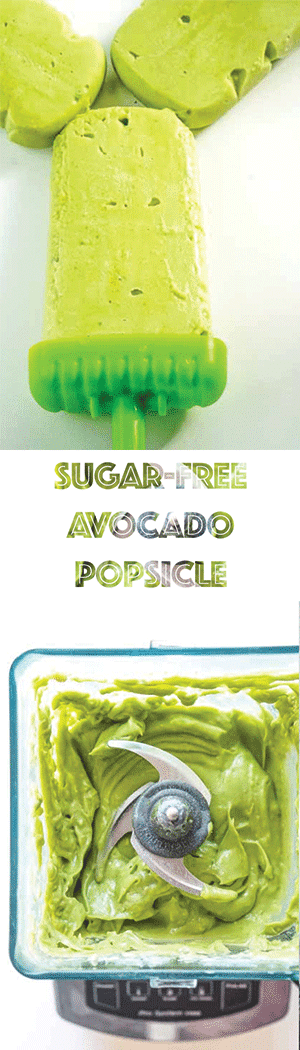 Avocado Popsicles with Coconut & Lime - Sugar-Free, Low Carb, Keto Friendly