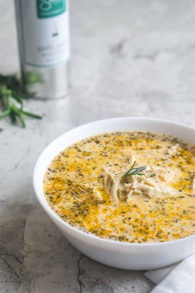 Creamy Garlic Chicken Soup [Recipe] | Keto Chicken Recipes | Keto Soup | Shredded Chicken