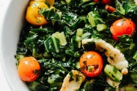 Keto Collard Greens Recipe | Burst Cherry Tomatoes | Comfort Food | Low Carb Recipes | Atkins