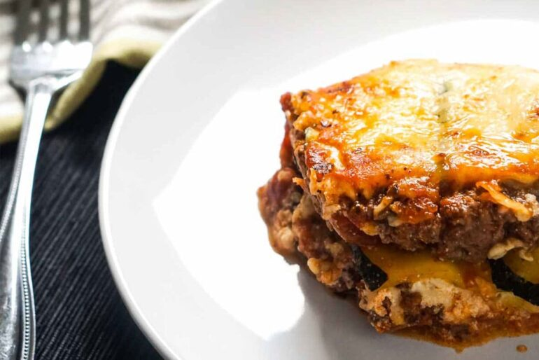 Keto Lasagna With Zucchini Noodles Recipe