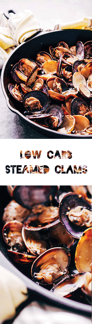 Steamed Clams Recipe with Garlic Butter - Low Carb, Keto Shellfish Recipe