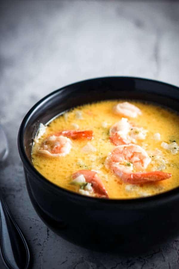 Creamy Shrimp Soup With Vegetables Recipe Ketogasm