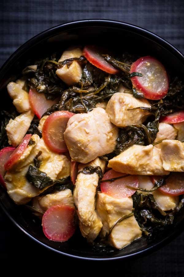 Low Carb Mustard Chicken Recipe - Collard Greens & Radish