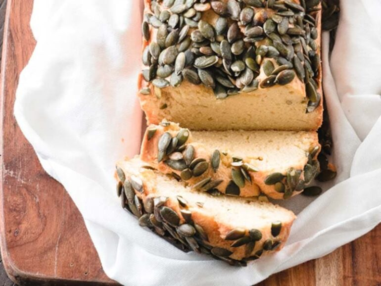 Keto Bread with Pumpkin Seeds Recipe - Low Carb Bread Alternative