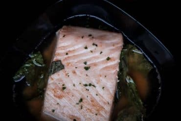 Poaching Halibut in Broth: Halibut in Ginger Broth Recipe - Low Carb, Keto, Gluten-Free, Dairy-Free
