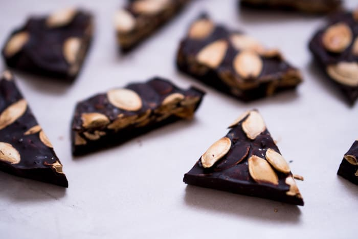 Pumpkin Seed Bark Recipe - Dark Chocolate & Sea Salt