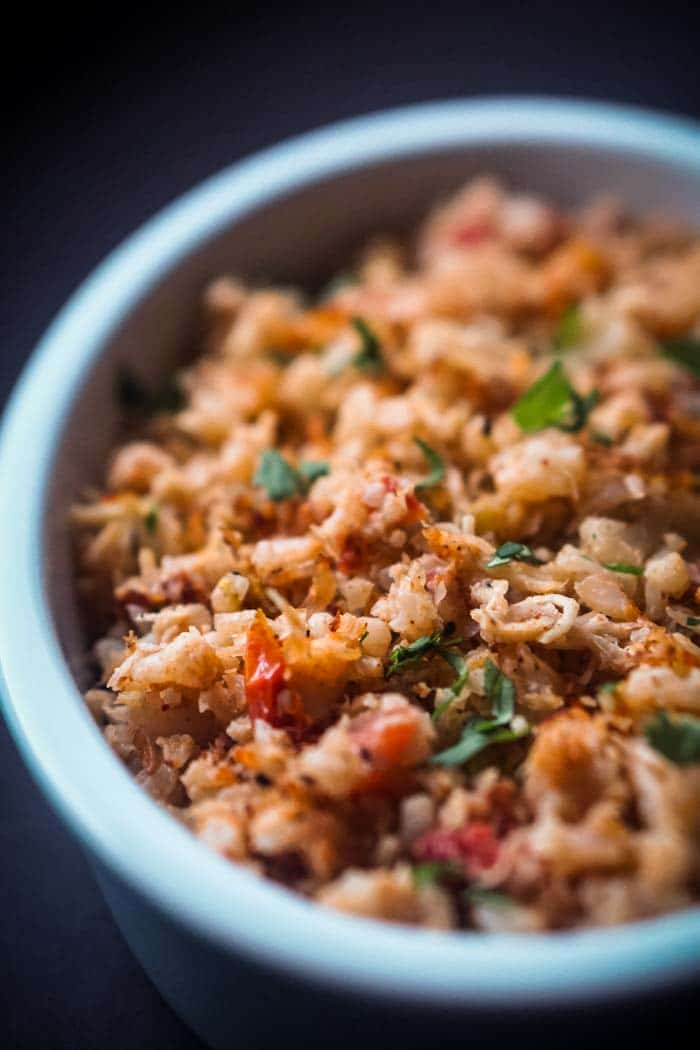 Keto Mexican Cauliflower Rice - Low Carb, Gluten-Free, Dairy-Free