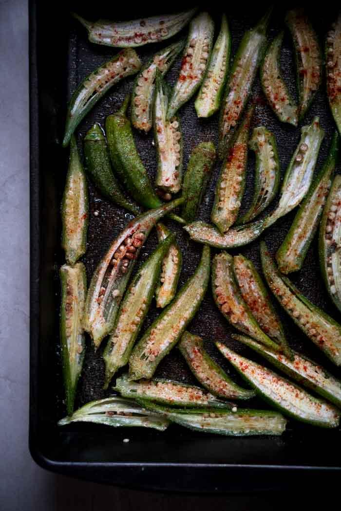 How to Roast Okra - Roasted Okra Fries Recipe