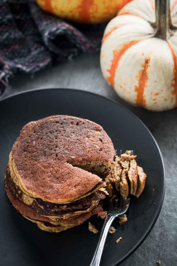 Gluten-Free Pumpkin Pancakes - Low Carb, Keto, Almond Flour