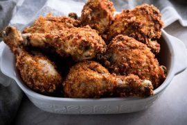 Keto Fried Chicken Recipe Baked in Oven - No Carb Chicken, Gluten Free, Dairy Free