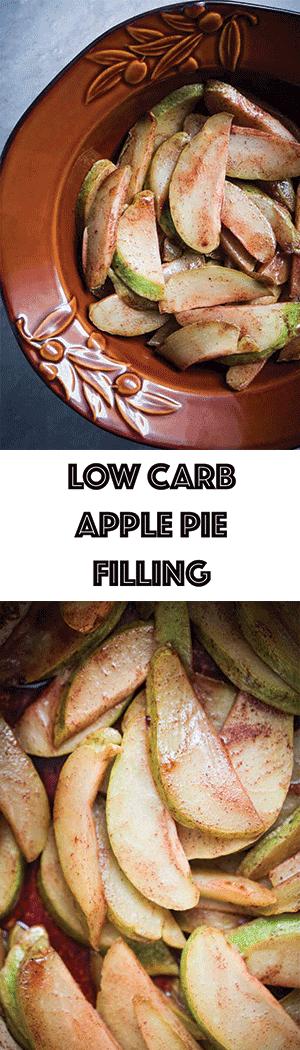 Low Carb Copycat Apple Pie Filling - Keto Friendly, Gluten Free, Dairy Free, Sugar Free