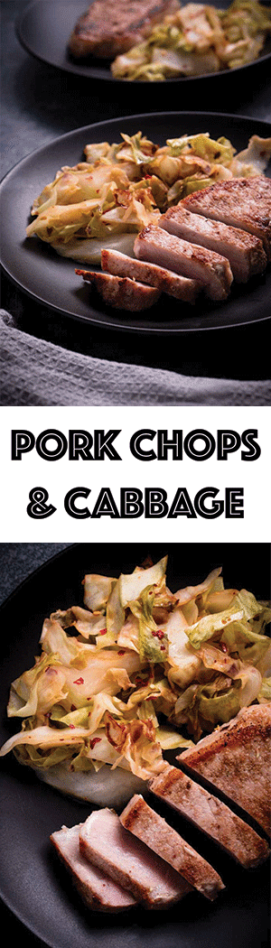 Pork Chops & Cabbage Recipe - Keto Dinner Recipe, Low Carb, Gluten Free, Dairy Free