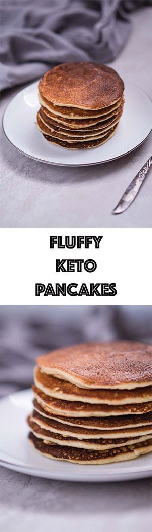 Low Carb Keto Pancakes Recipes - Light & Fluffy, Gluten Free