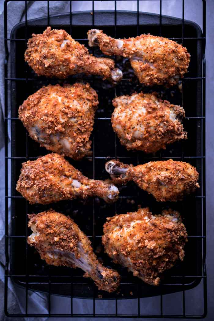 Low Carb Keto Oven-Fried Chicken Recipe - Gluten Free, Dairy Free