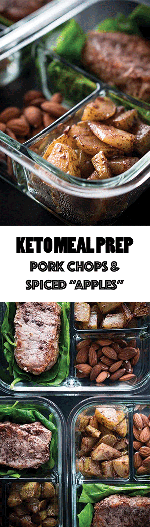 "Keto Meal Prep Recipe: Pork Chops & Spiced ""Apples"""