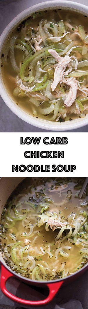Low Carb Chicken Noodle Soup with Chayote Noodles Recipe