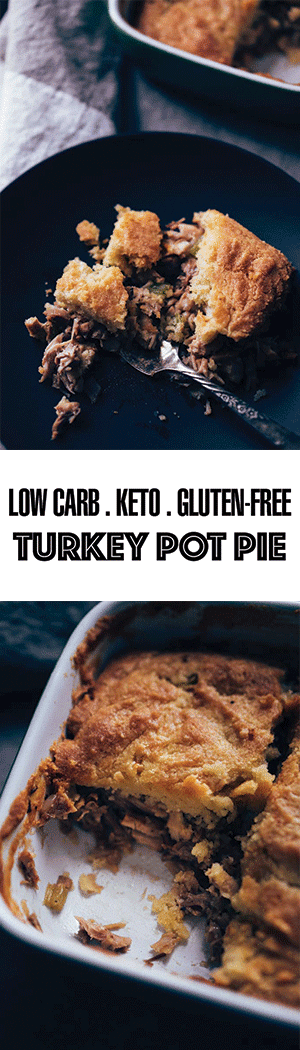 Low Carb Turkey Pot Pie Recipe with Almond Flour