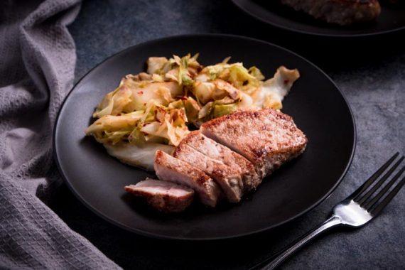 Pork Chops & Cabbage Dinner Recipe [Low Carb, Keto, Dairy-free]