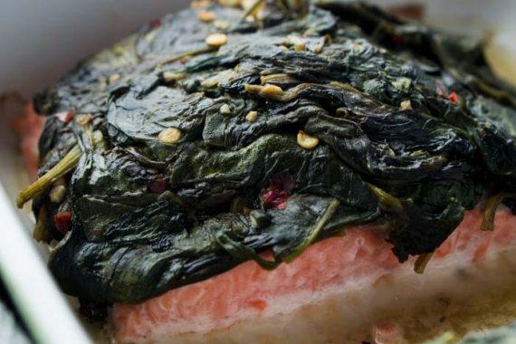 Salmon Florentine Recipe - Low Carb, Gluten Free, Dairy Free