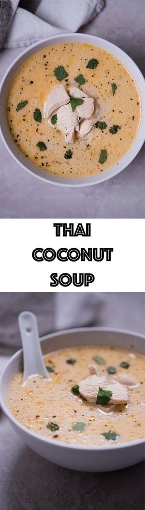 Easy Thai Coconut Soup Recipe - Low Carb Keto Tom Kha Gai