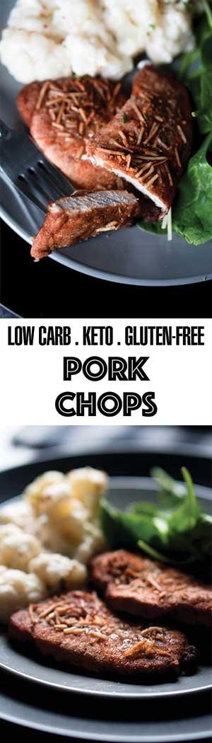 Keto Pork Recipes - Shake and Bake Pork Chops! Low Carb, Gluten Free
