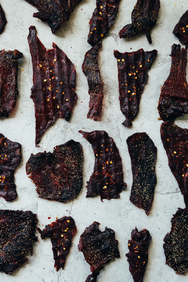 Peppered Beef Jerky - Spicy Beef Jerky - Beef Jerky Food Photography