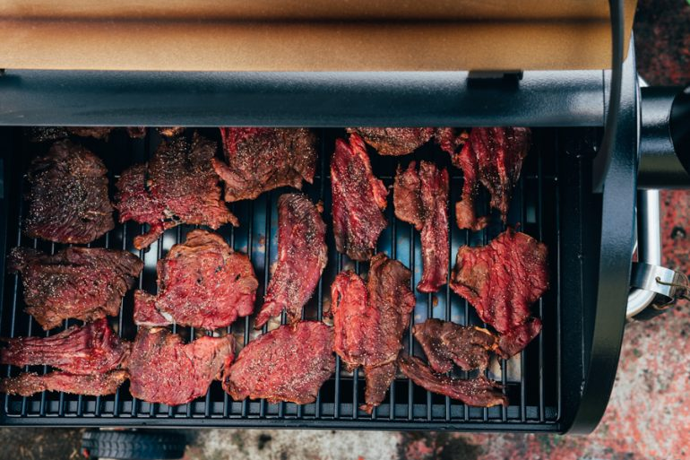How to Smoke Beef Jerky on Traeger Grill
