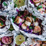 Shrimp on Grill with Foil Packets