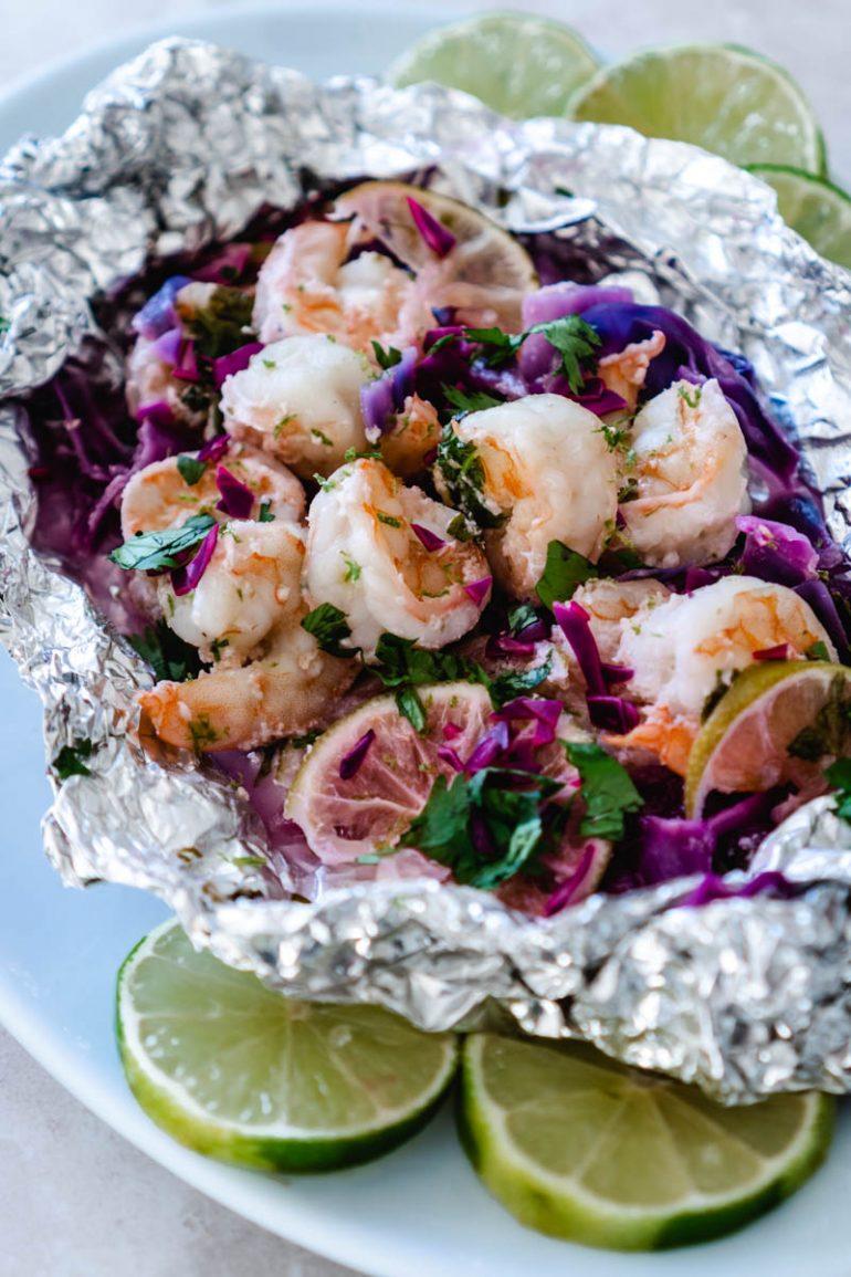 How to Make Foil Packet Shrimp