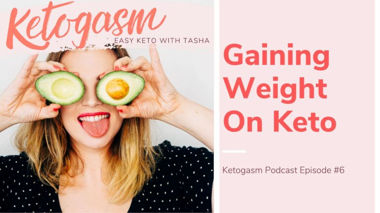 Gaining Weight on Keto Cover Title