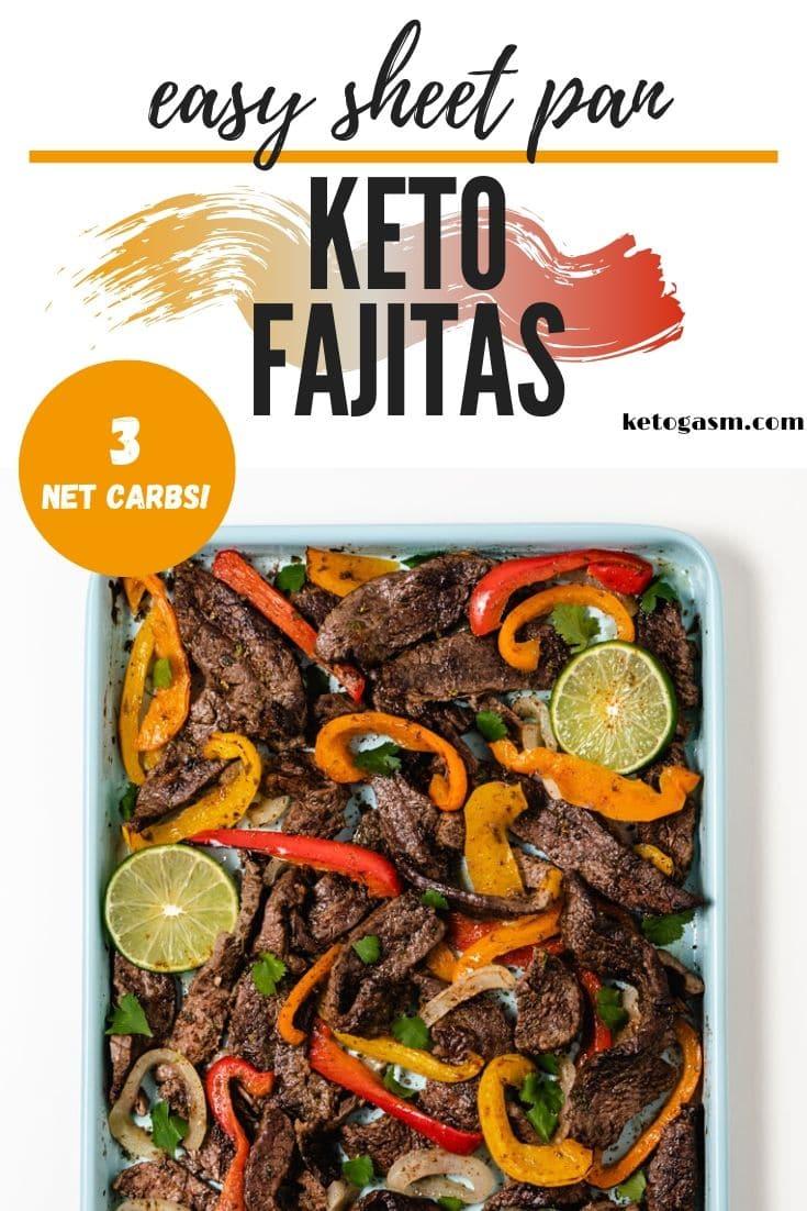 Easy Sheet Pan Keto Steak Fajitas